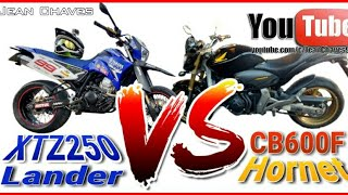 Racha: YAMAHA XTZ 250 Lander vs FAZER 250 vs CB600F Hornet (Serra de Campos do Jordão)
