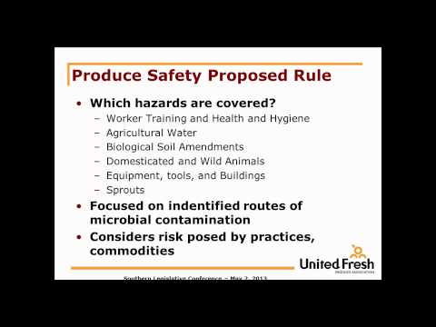 Food Safety Modernization Act: Impacts for Farmers, Producers and States
