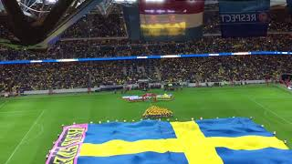 Swedish national anthem - Sweden vs Luxembourg, October 2017