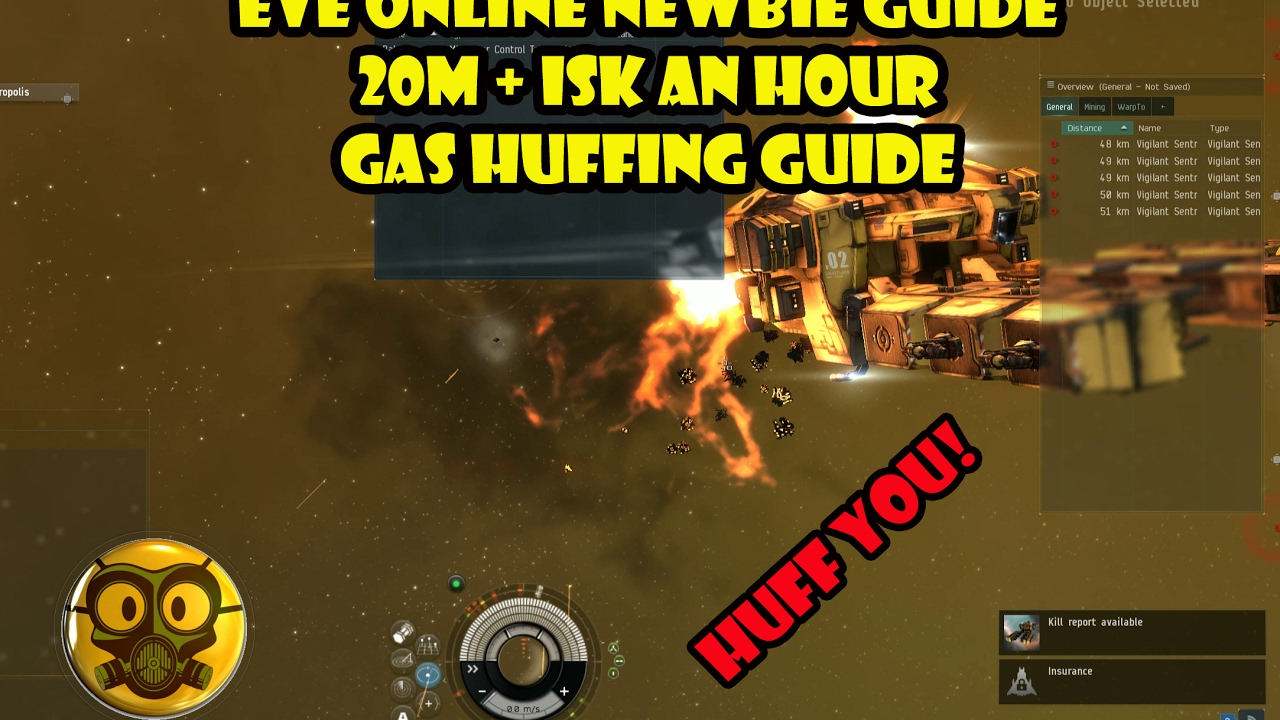 Eve online - Newbie Guide 20m+ Isk an Hour Gas Huffing Guide