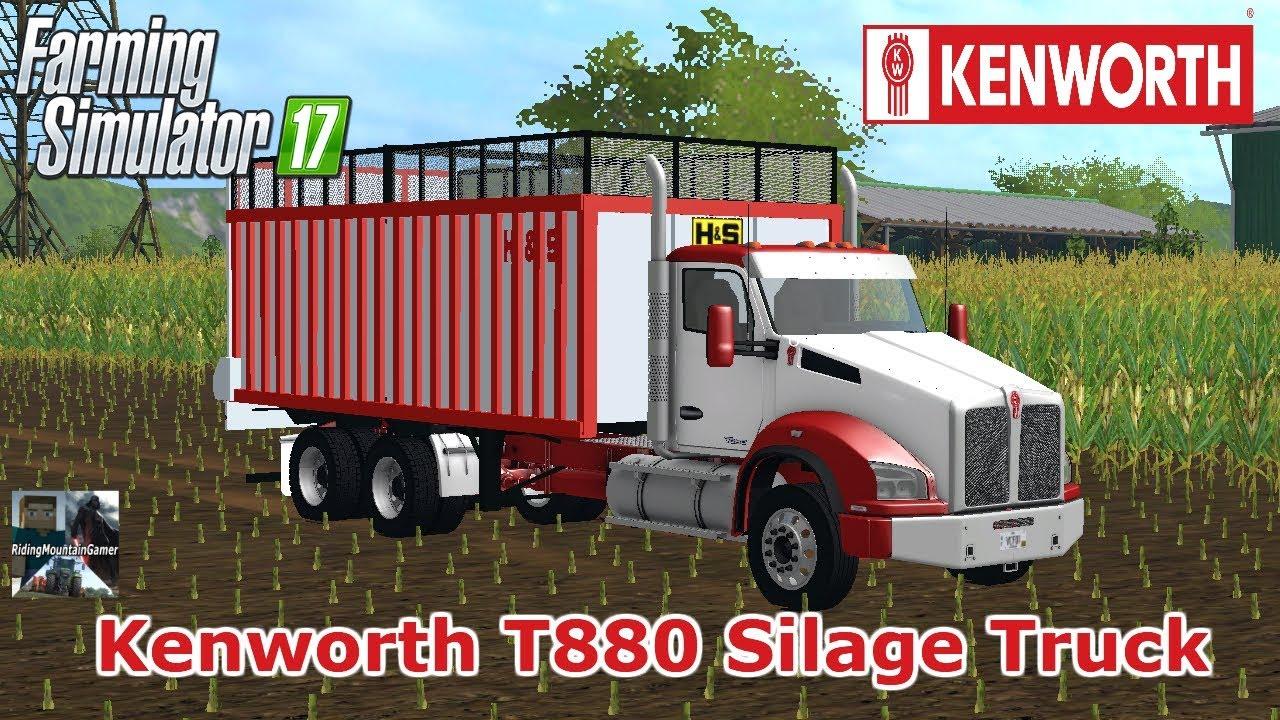 Farming Simulator 2017 / KENWORTH T880 SILAGE TRUCK / Mod Review