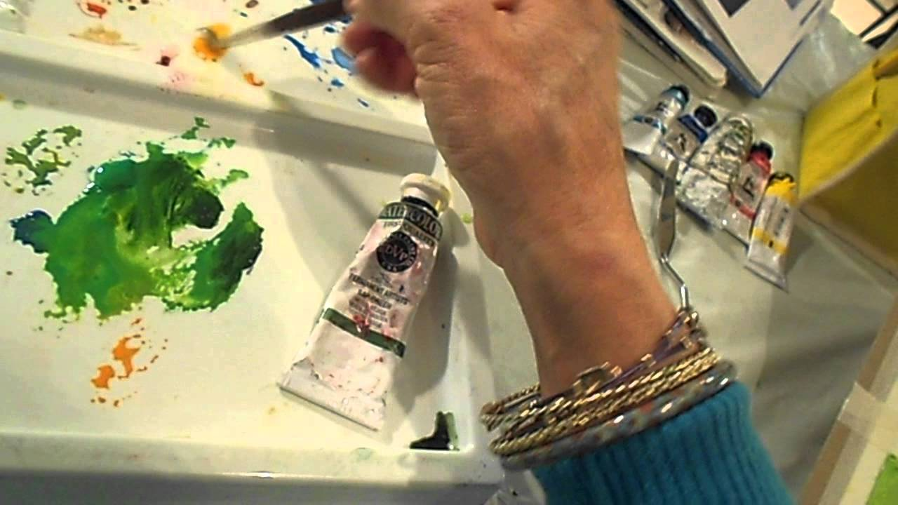 Painting A Tropical Flower