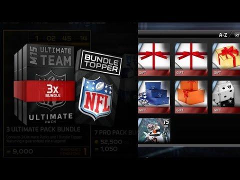 Madden 15 Ultimate Team Ultimate Pack Bundle + Elite Legend + K George Blanda - More Gifts to Open!