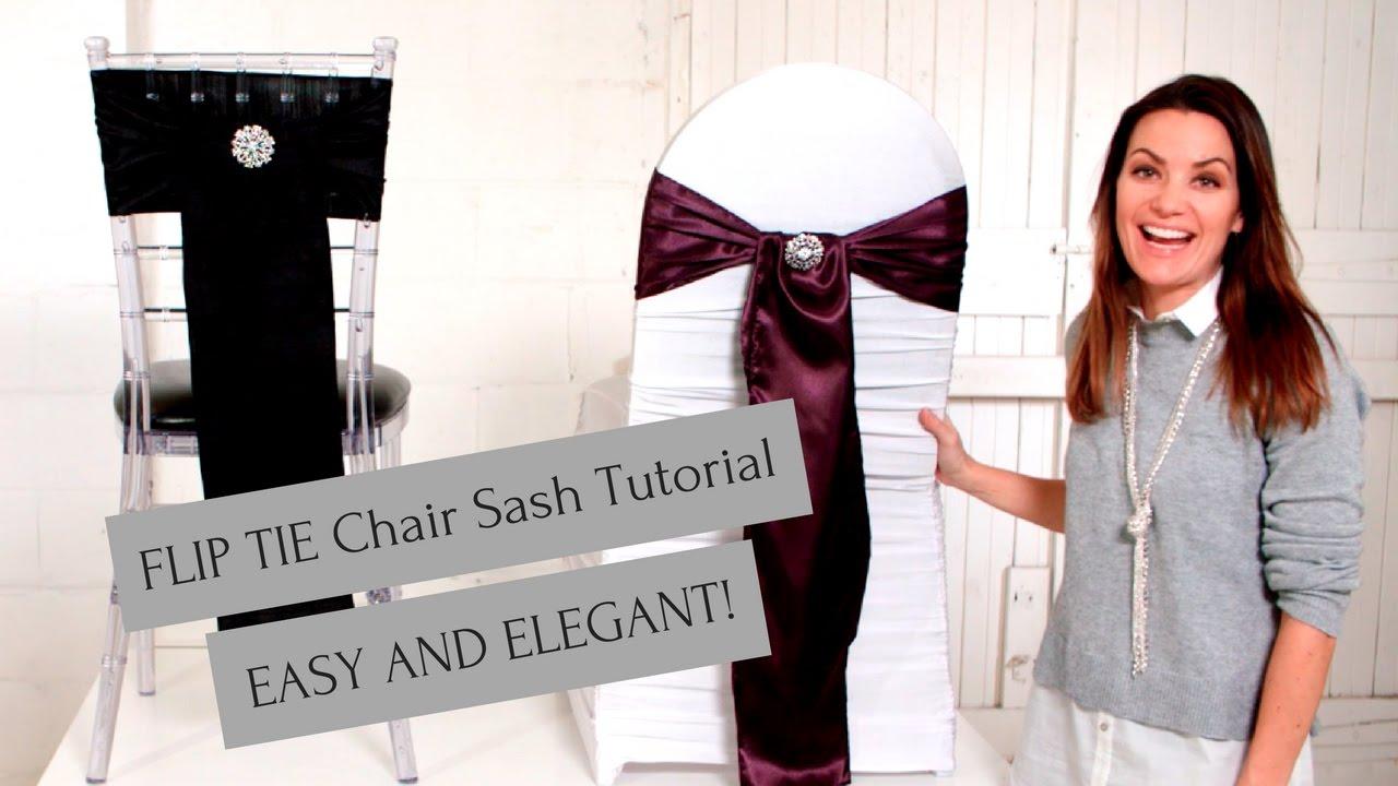 how to make chair sashes yoga certification ontario sash tutorial flip tie method easy and beautiful youtube
