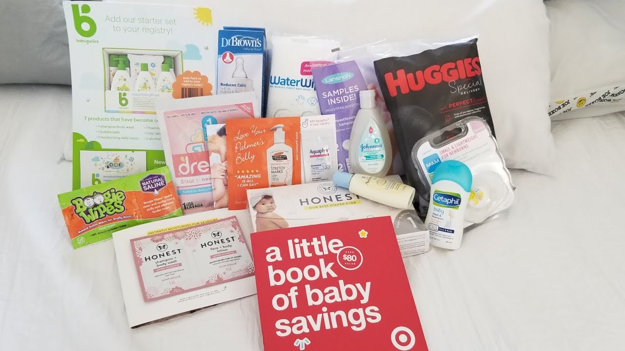 Target baby registry free welcome kit! - YouTube