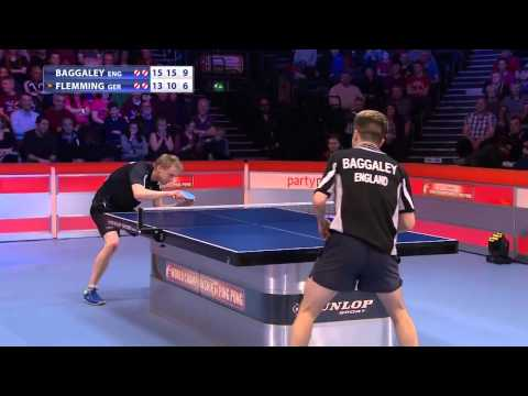 World championship of Ping Pong 2015 final Baggaley ENG Flem