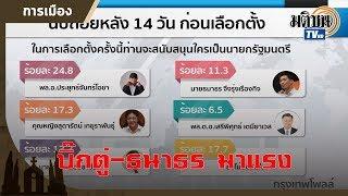 เลือกตั้ง 62  บิ๊กตู่มาแรง พรรคยอดนิยมเพื่อไทย คนกรุงเลือกธนาธร: Matichon TV
