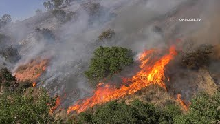 Crews Fire Chars 2,000 Acres, Destroys Two Homes In Gilroy