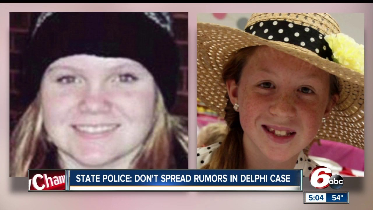 State Police: 'Please don't spread rumors' in Delphi investigation