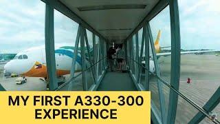 My First A330-300 Flight | Cebu (CEB) to Manila (MNL) | Heavy Rain in Manila