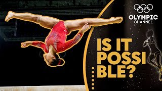Landing a Gymnastics Beam Front Flip With A Full Twist | Is It Possible?