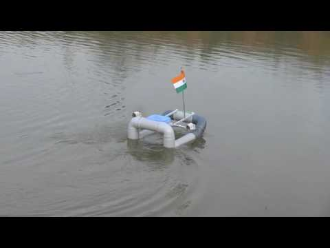Unmanned Air Screwing Water Car