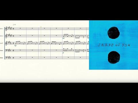 Shape of You Brass Quintet Sheet Music