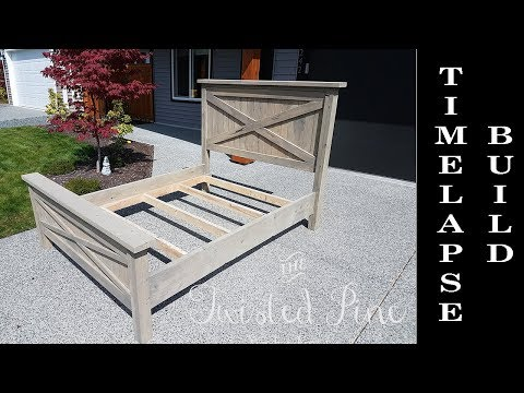 custom-made-farmhouse-bed-build-timelapse---quick-version---twisted-pine-woodworking-co