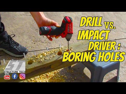 Drill vs. impact driver, boring holes