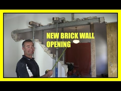 How To Remove A Brick Load Bearing Wall New Opening