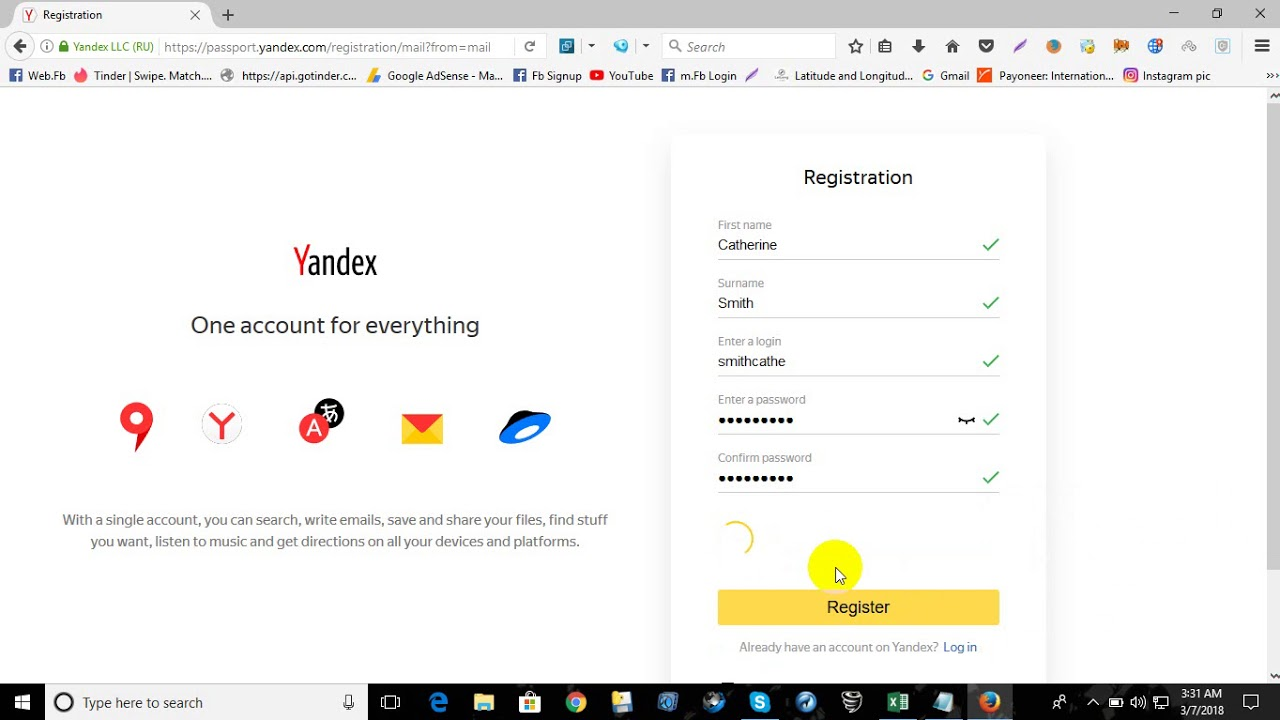 How To Creat Unlimited Yandex Mail By Rabbi 2018