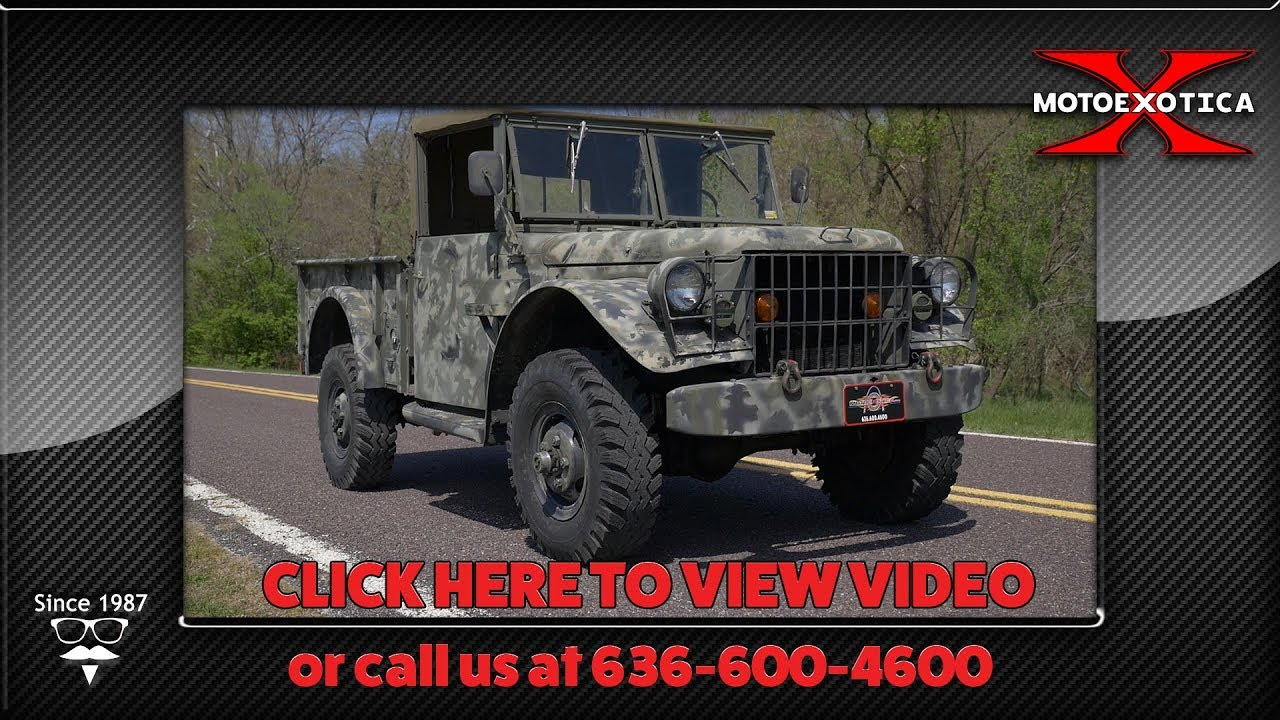 1953 Dodge M37 MIlitary Truck (SOLD)