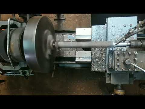 38 mm Square Rod Centre to Centre Turning on the Lathe Machine