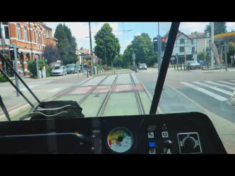 Brussels old tram on route 39 to Ban Eik