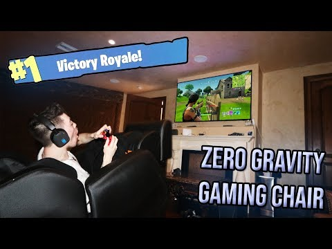 PLAYING FORTNITE IN A ZERO GRAVITY GAMING CHAIR (I WON!)