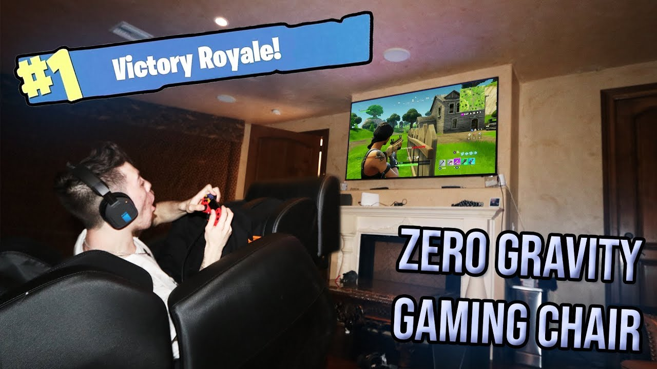 Playing Fortnite In A Zero Gravity Gaming Chair I Won
