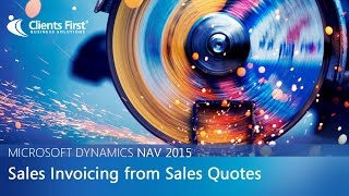 Microsoft Dynamics NAV 2015 Create Sales Invoice from Sales Quote