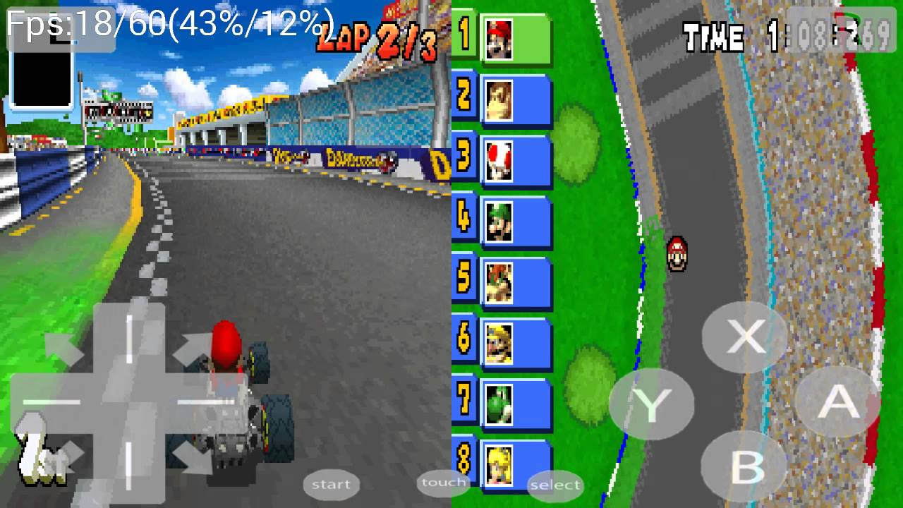 b9aef28d7 nds4droid 45 (NDS Emulator) Mario Kart DS on Samsung Galaxy S4