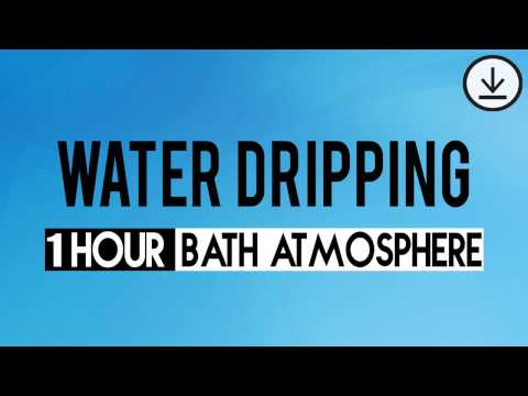 Water Dripping Sound Effect | 1 Hour Relaxing sound | Agua goteando
