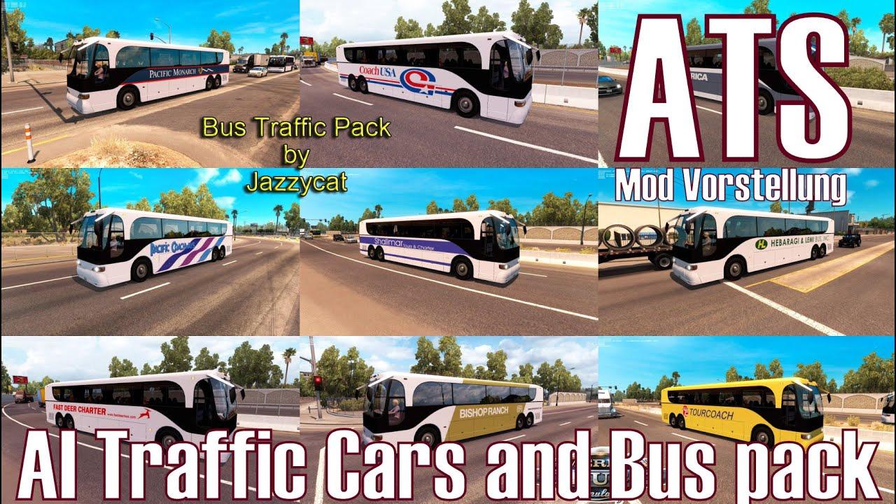 ATS ★ AI Traffic Cars and Bus pack ★ Mod Vorstellung [Deutsch/HD]