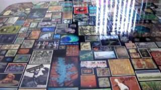 Decoupage Art Table Dining Ping Pong Gameroom Piece Cover  5'x9'