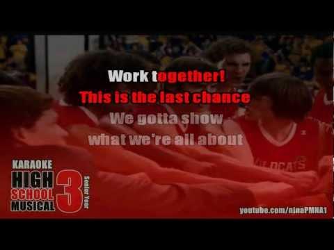 KARAOKE Now Or Never - High School Musical 3