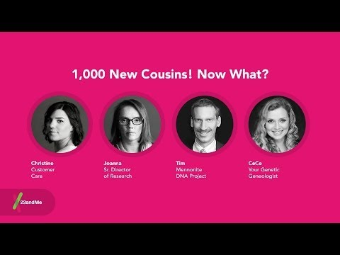 Hangout with 23andMe: 1,000 new cousins! Now what?