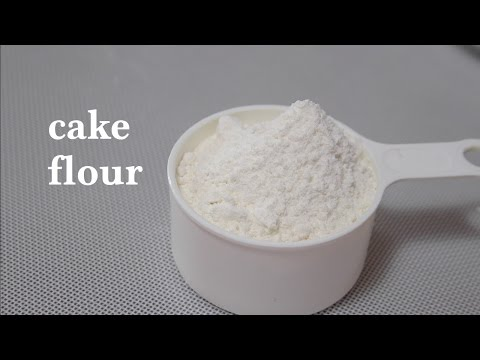 How to Make Cake Flour with All-Purpose Flour and Cornstarch