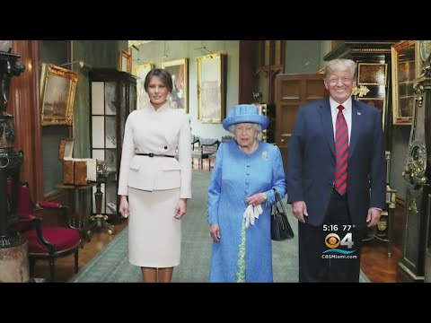 The Trumps Meet Queen Elizabeth II For The First Time, Amid Protests