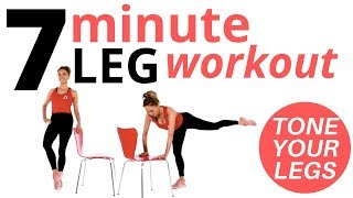 7 MINUTE WORKOUT - LEG WORKOUT AT HOME  THIS EXERCISE ROUTINE FOR INNER THIGH, LEGS & LOWER  BODY