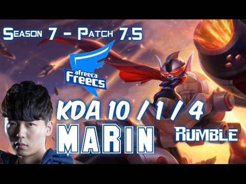 AFs MaRin RUMBLE vs IRELIA Top - Patch 7.5 KR Ranked