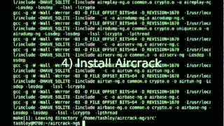 Video Tutorial: Installing Aircrack + Wicrawl on Ubuntu Linux