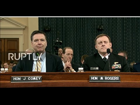 LIVE: FBI and NSA chiefs to testify for investigation into Russia's alleged role in US elections