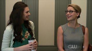 Supergirl 4x01 Kara meets Nia Nal, Agent Liberty Scene Copyright Di...