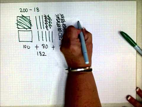 Scc Math 205 Model Base 10 Subtraction By Drawing Youtube