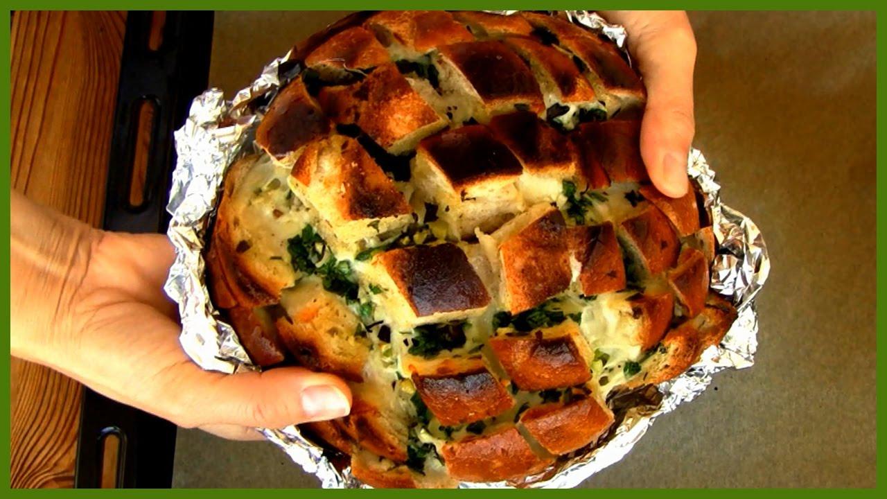 Fırında Peynirli ve Sarımsaklı Ekmekler