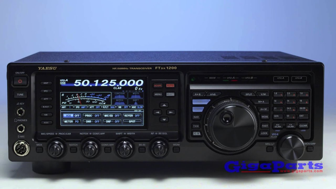 Yaesu FT-DX1200 - YouTube