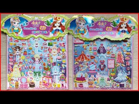 Đồ chơi dán hình váy đầm búp bê tiên bướm & ngôi nhà búp bê - Sticker dolly toys (Chim Xinh)