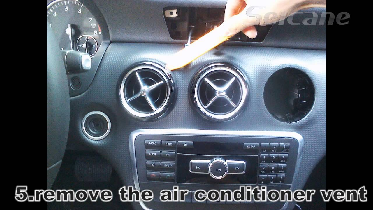 Stereo installation instruction for mercedes benz a cla for Mercedes benz stereo installation