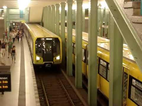 Metro (U-Bahn) in Berlin, Germany.