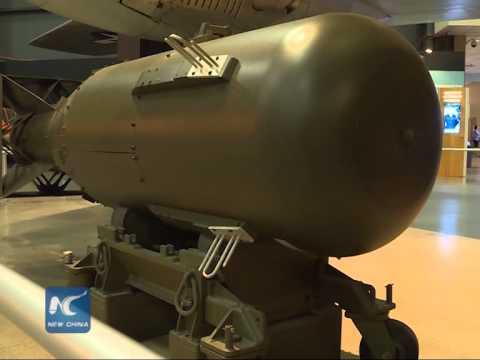 "Mock ""Fat Man"" atomic bomb dropped on Nagasaki on display"