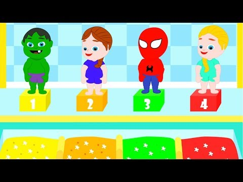 SUPERHERO BABIES AT THE SWIMMING POOL 鉂� Spiderman, Hulk & Frozen Play Doh Cartoons For Kids