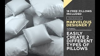 Marvelous Designer 7 - Easily Create 2 Types Of Pillows