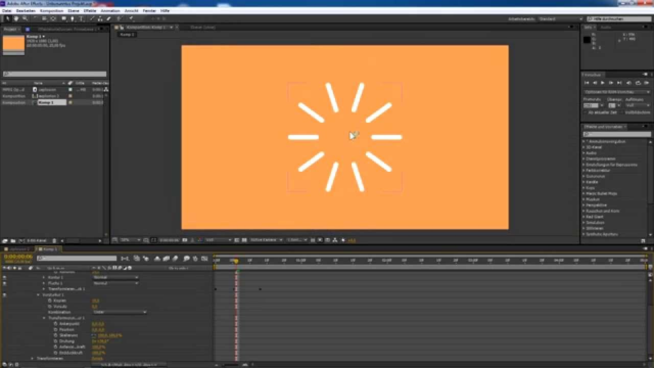 2D Motion Graphics Explosion Tutorial (Deutsch)